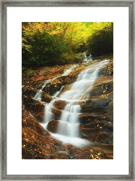 Waterfall @ Sams Branch Framed Print