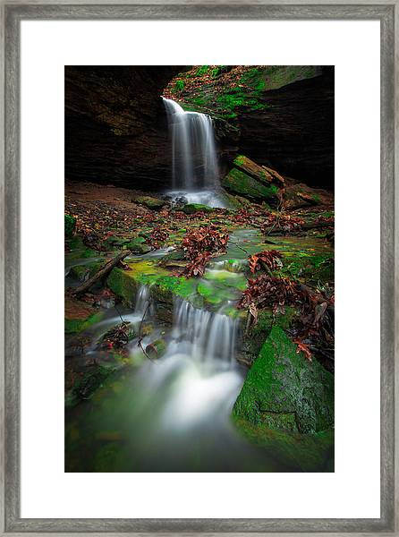 Frankfort Mineral Springs Waterfall  Framed Print
