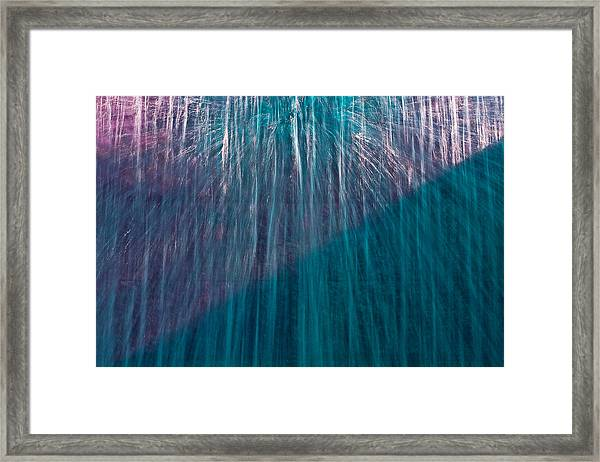 Waterfall Abstract Framed Print