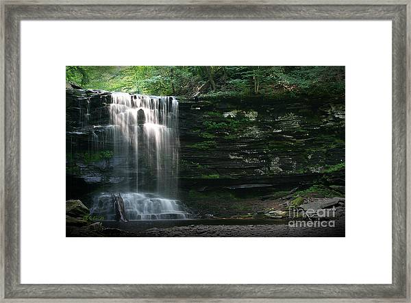Waterfall At Ricketts Glen Framed Print