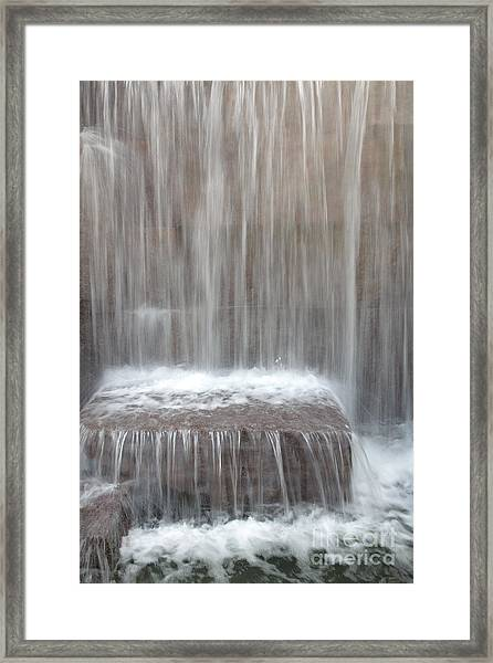 Waterfall At The Fdr Memorial In Washington Dc Framed Print