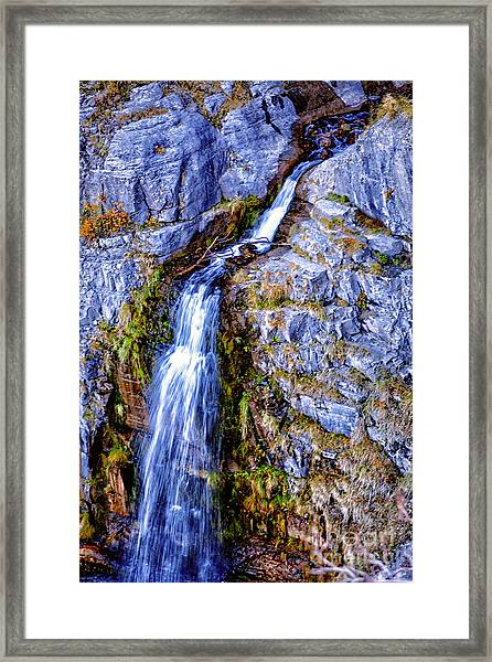 Waterfall-mt Timpanogos Framed Print