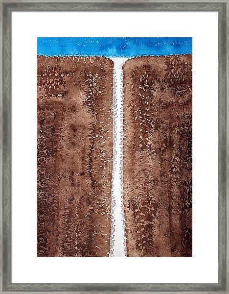 Waterfall Original Painting Framed Print