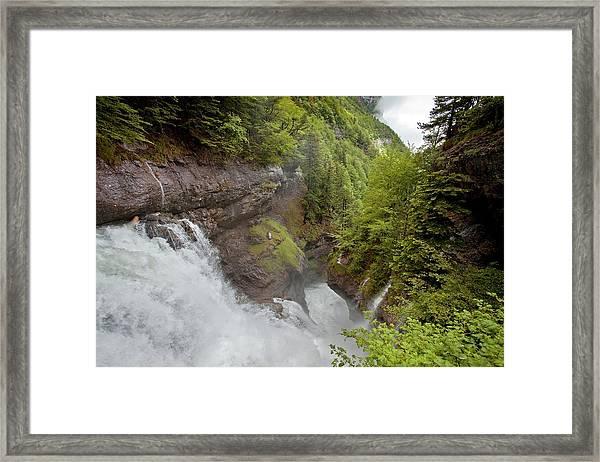 Waterfalls In The Ordesa Valley Framed Print