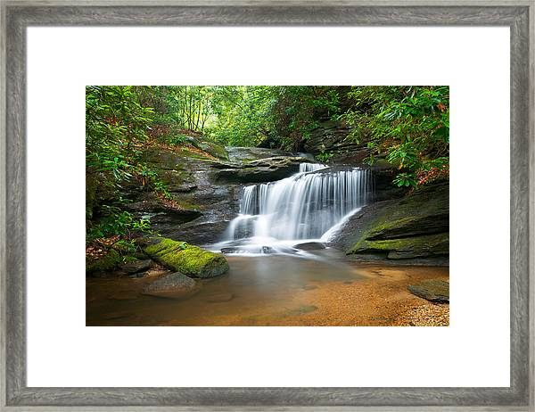 Waterfalls - Wnc Waterfall Photography Hidden Falls Framed Print