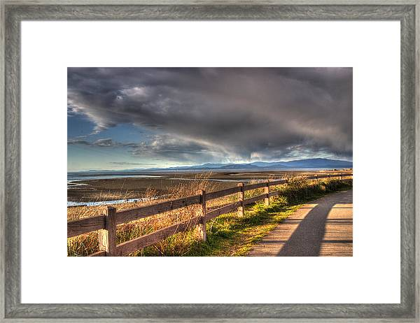 Framed Print featuring the photograph Waterfront Walkway by Randy Hall