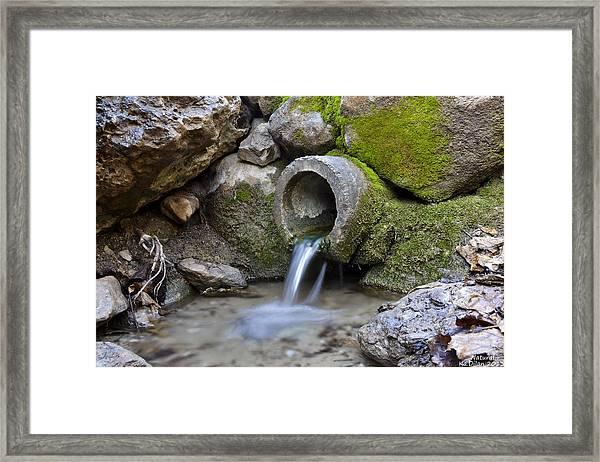 Waterfull Framed Print by Ka  Dilan
