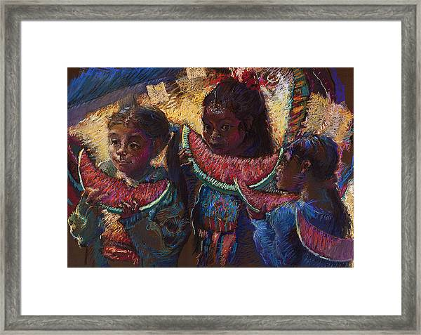Watermelon Eaters Framed Print