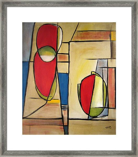 Framed Print featuring the painting Watermelon by R Johnson