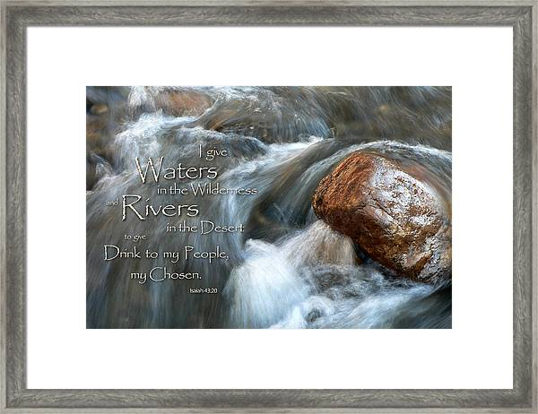 Waters In The Wilderness Framed Print