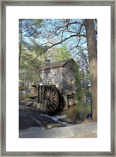 Waterwheel At Stone Mountain Framed Print