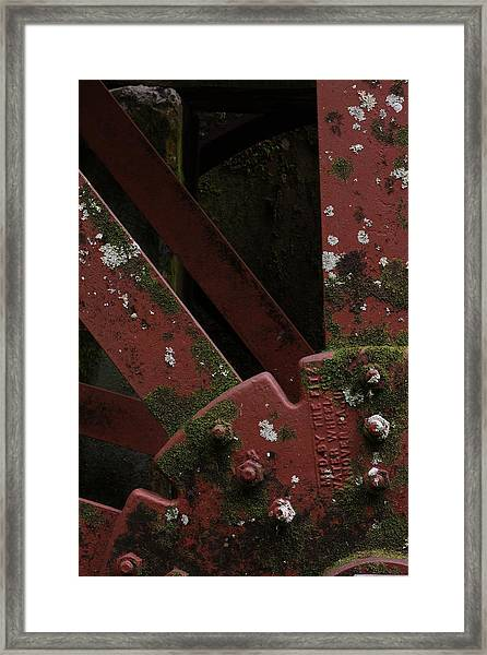 Waterwheel Up Close Framed Print