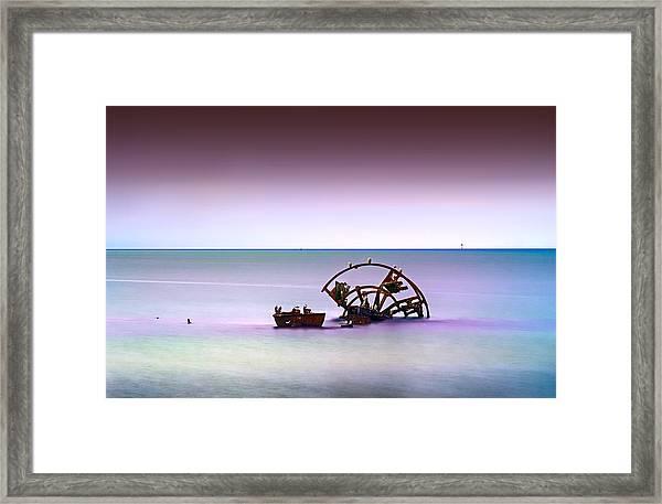 Watery Desert Framed Print