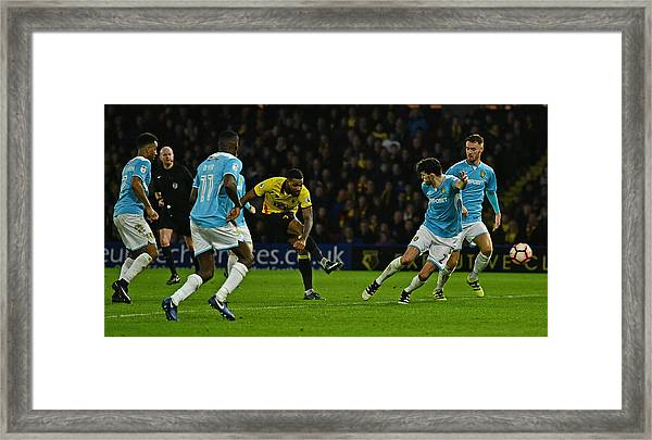 Watford V Burton Albion - The Emirates Fa Cup Third Round Framed Print by Dan Mullan