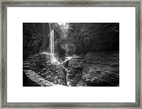 Watkins Glen 04 Bw Framed Print