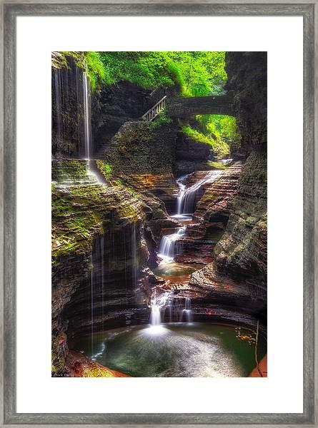Watkins Glen Rainbow Falls Framed Print