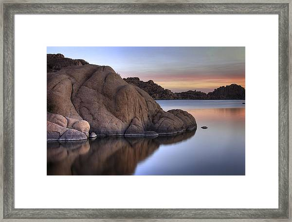 Watson Lake Arizona Colors Framed Print