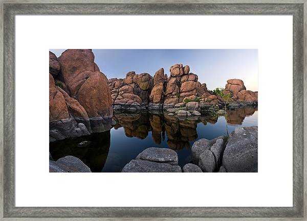Watson Lake Arizona Reflections Framed Print