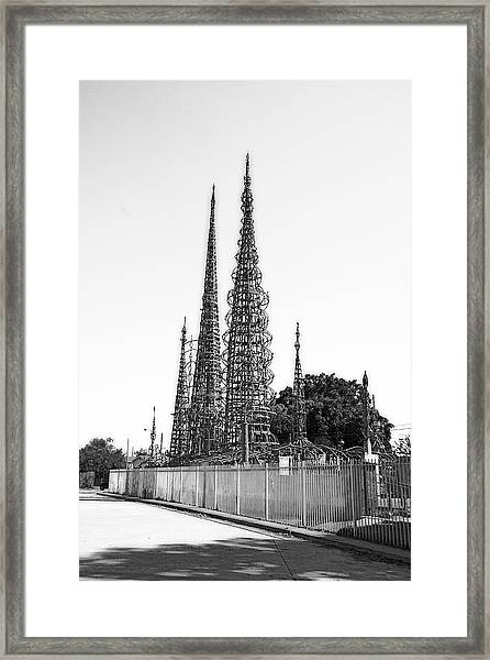 Watts Towers Framed Print