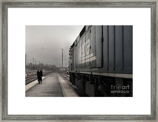 Framed Print featuring the photograph Waukugen Train Station by Glenda Wright