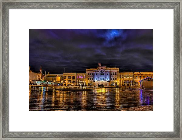 Wausau Ice Rink After Dark Framed Print