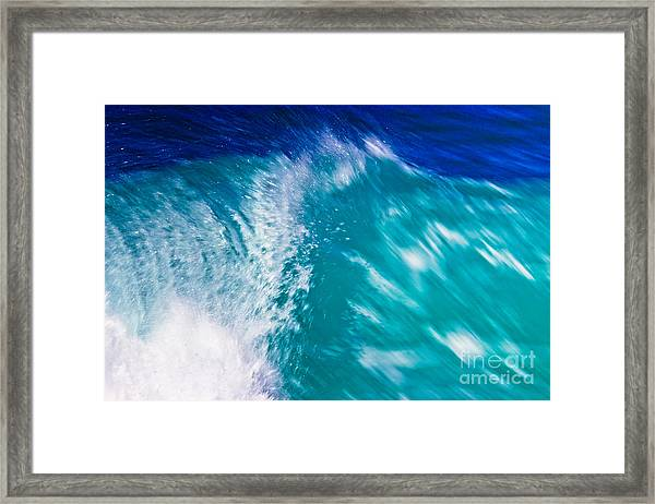 Wave 01 Framed Print