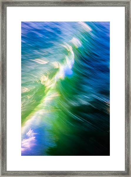 Wave Abstract Triptych 1 Framed Print