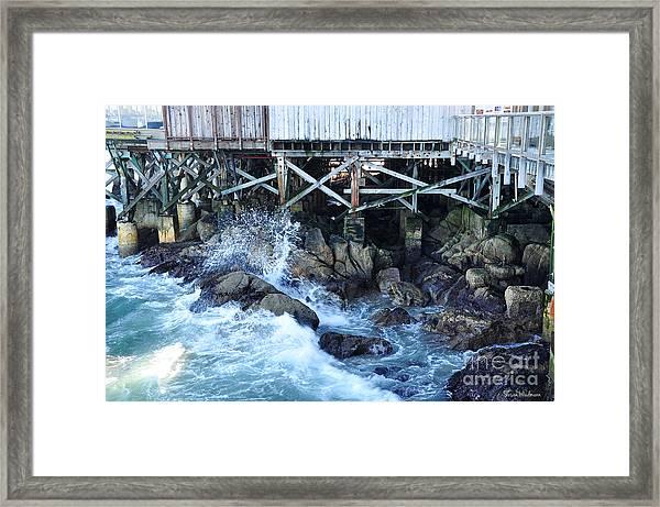 Wave Action Framed Print