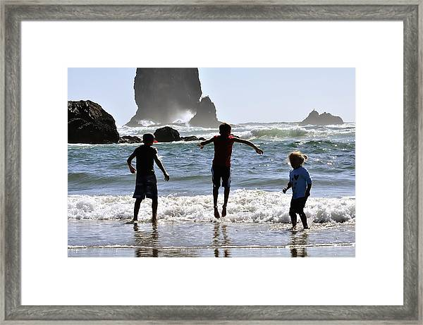 Wave Jumping 25614 Framed Print
