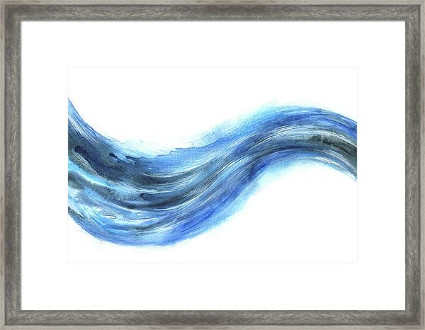 Wave Of Energy Framed Print by Stereohype