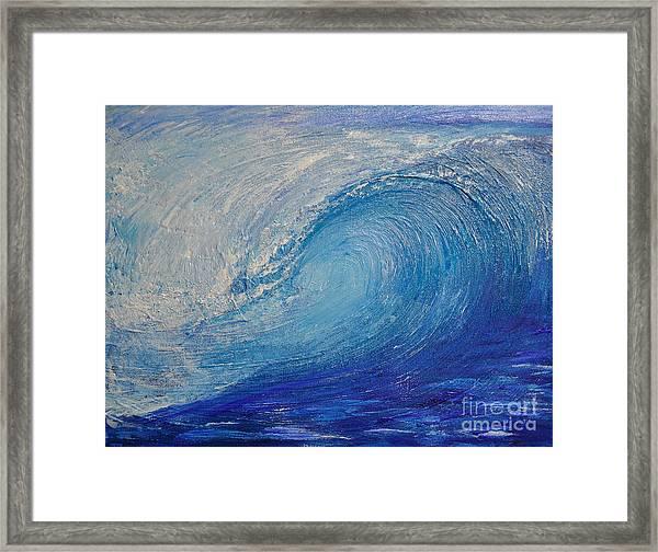 Wave Study Framed Print