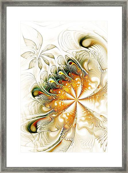 Waves And Pearls Framed Print