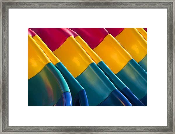 Waves Of Color Framed Print