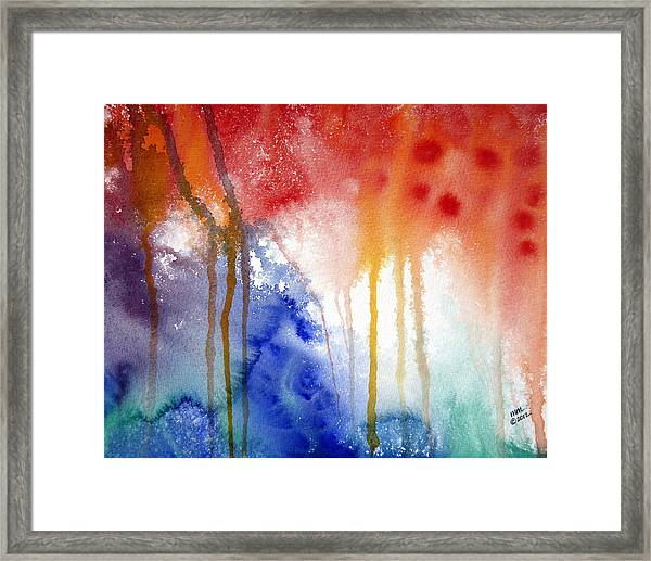 Waves Of Emotion Framed Print