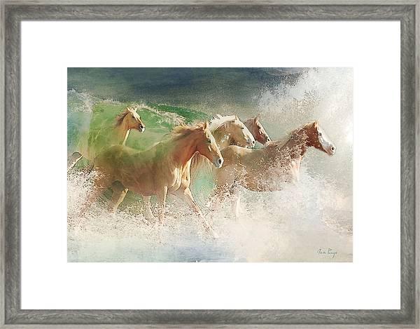 Waves Of God's Glory Framed Print
