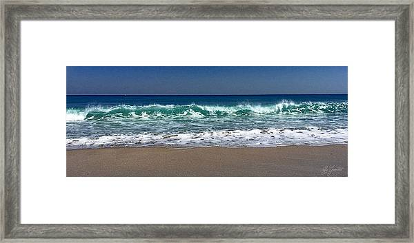 Waves Of Happiness  Framed Print