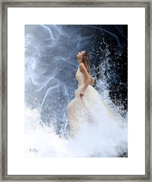 Waves Of His Glory Framed Print