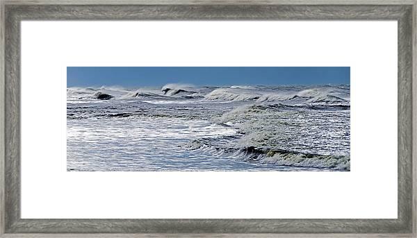 Waves Off Sandfiddler Rd Corolla Nc Framed Print