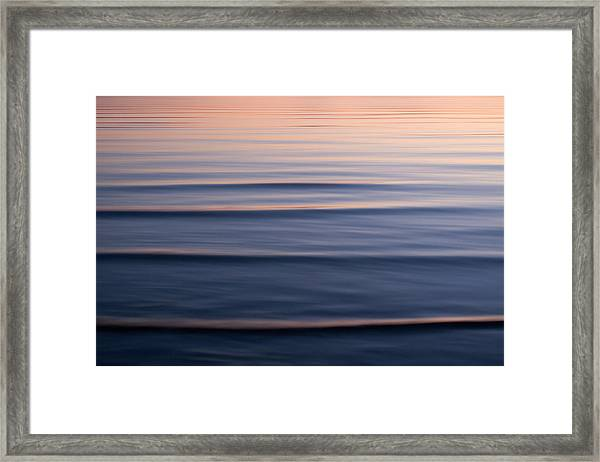 Waves On The Great Salt Lake Framed Print
