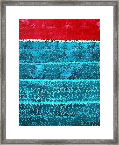 Waves Original Painting Framed Print