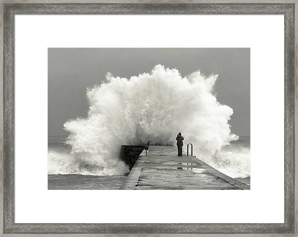 Waves Photographer Framed Print by Mikel Lastra