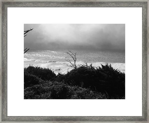 Waves Upon The Land Framed Print