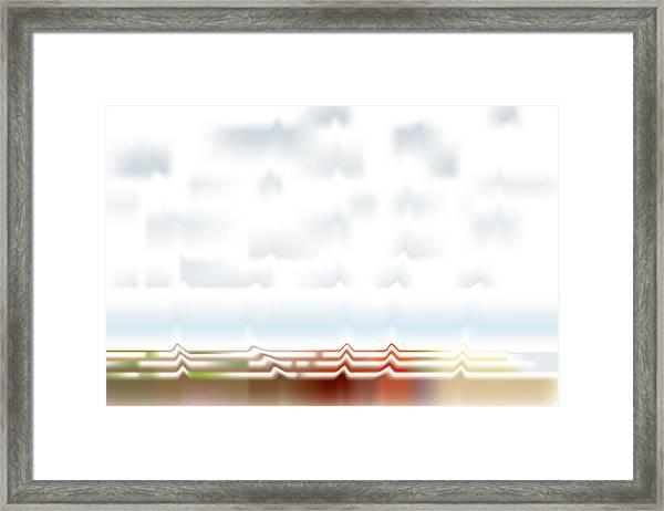 Wavescape Framed Print
