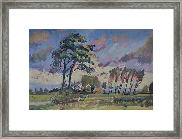 Waving Twin Trees Framed Print