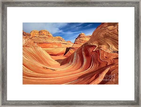 Wavy Bowl Framed Print