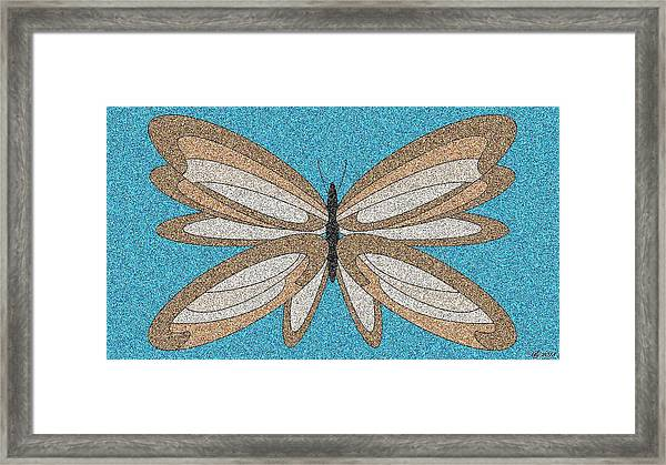 Wavy Butterfly Tile 1 Framed Print