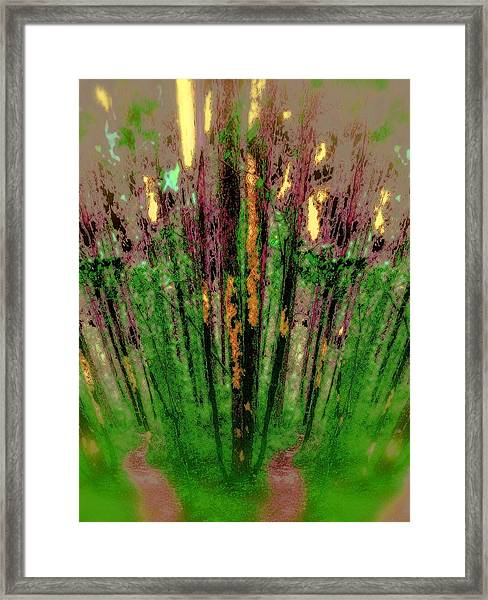 Wax Forest Cathedral Framed Print