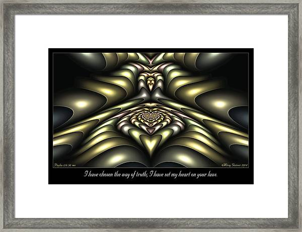 Way Of Truth Framed Print