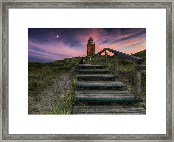 Way To Lighthouse Framed Print