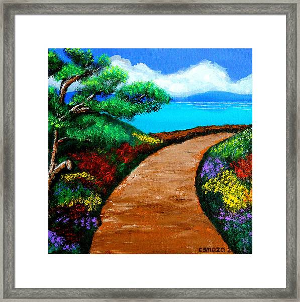 Way To The Sea Framed Print